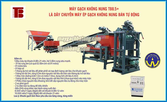 Máy ép gạch bê tông không nung TB 8.5 nâng cao