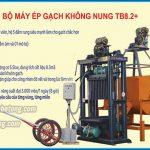 Máy ép gạch bê tông không nung TB 8.2 nâng cao